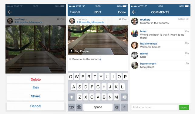 Instagram habilitó la edición de textos
