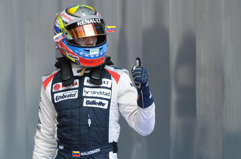 Maldonado logró el séptimo lugar en libres del GP de Brasil