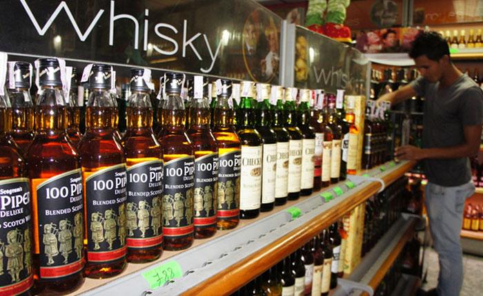 Importaciones de whisky se redujeron cerca de 80%