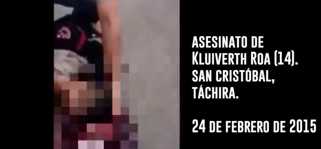 Así fue asesinado Kluiberth Roa en Táchira (VIDEO)