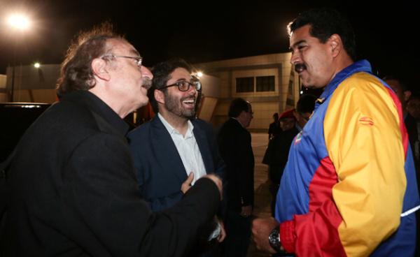Ignacio Ramonet y Nicolas Maduro