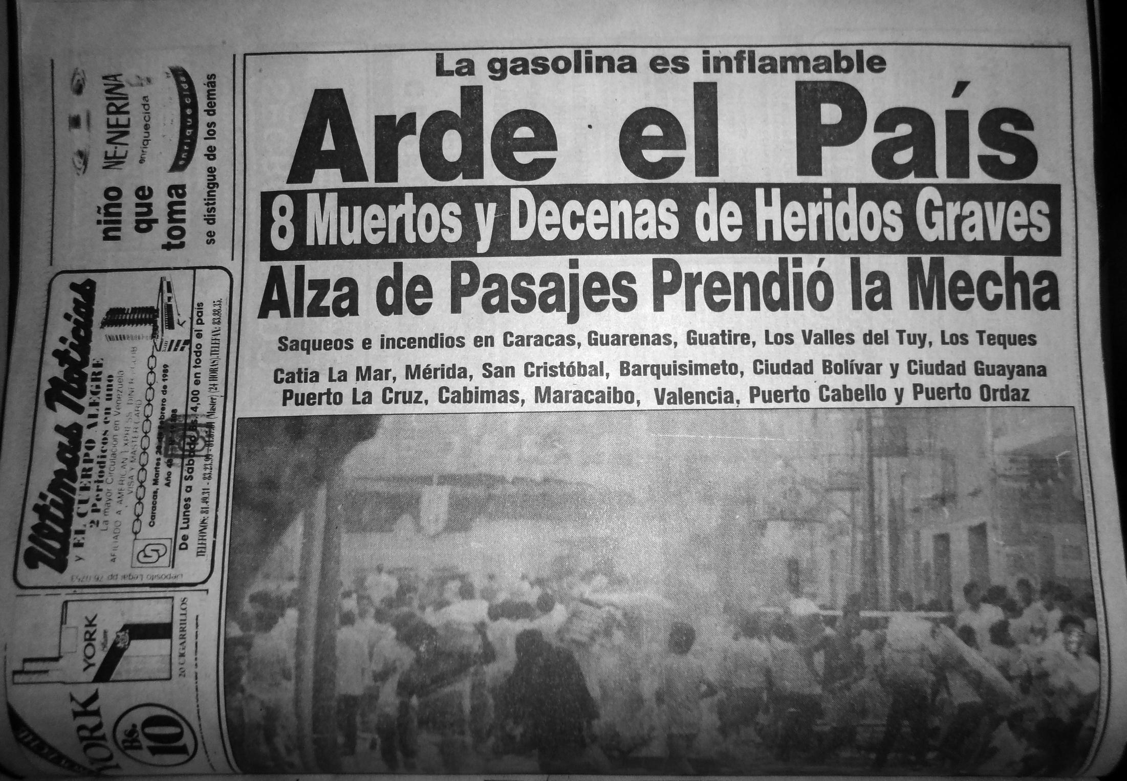 """27F: El país """"del no hay"""" 26 años después"""