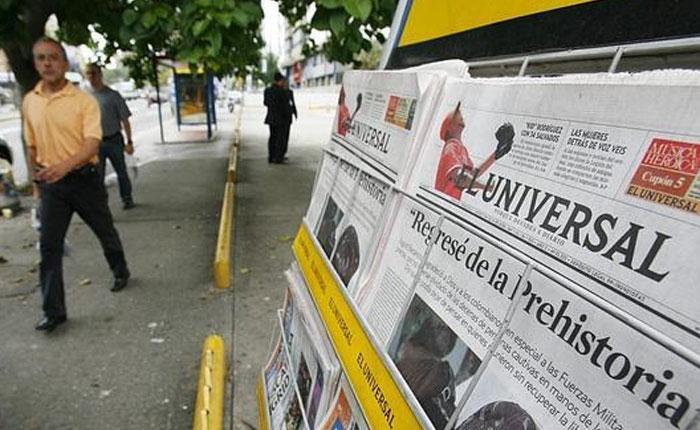 Compra y venta de periódicos por Elías Pino Iturrieta