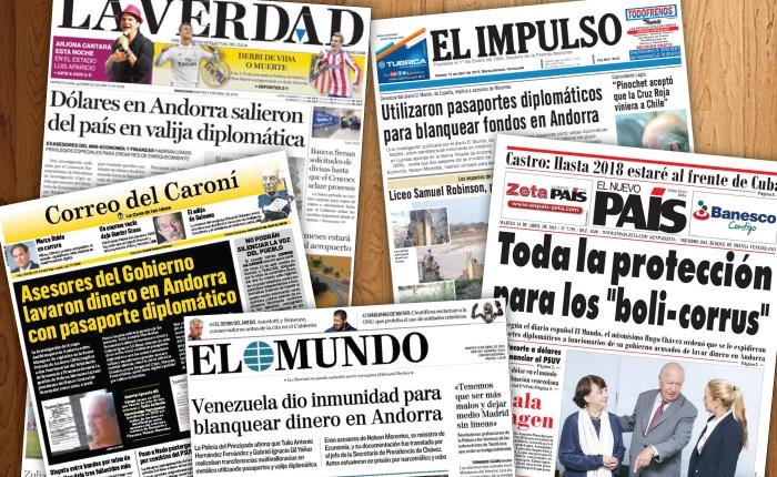 Venezolanos que blanquearon dinero en Andorra son noticia en el mundo
