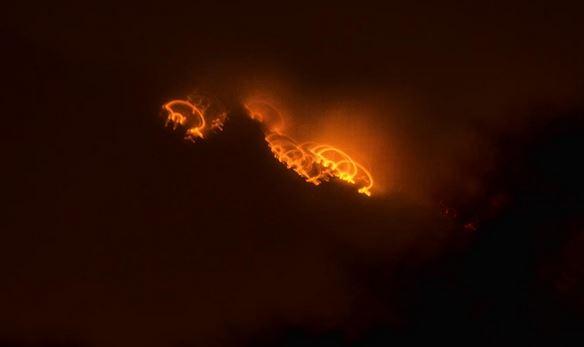 """""""No se vieron helicópteros. Nos dejaron solos"""", dice vecino de Galipán tras un día de incendio"""