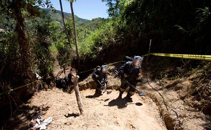 Colombia prepara la paz lleno de minas antipersona