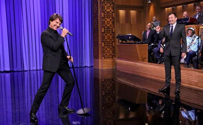 Tom Cruise canta con Jimmy Fallon