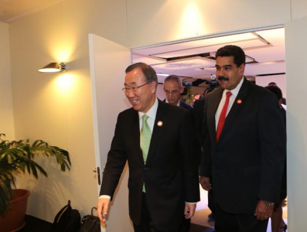Maduro dice en la ONU que no aceptará observación internacional en parlamentarias