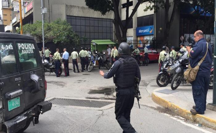 Cuerpos policiales frustan robo en la Torre Financiera del Banco de Venezuela en Bello Monte