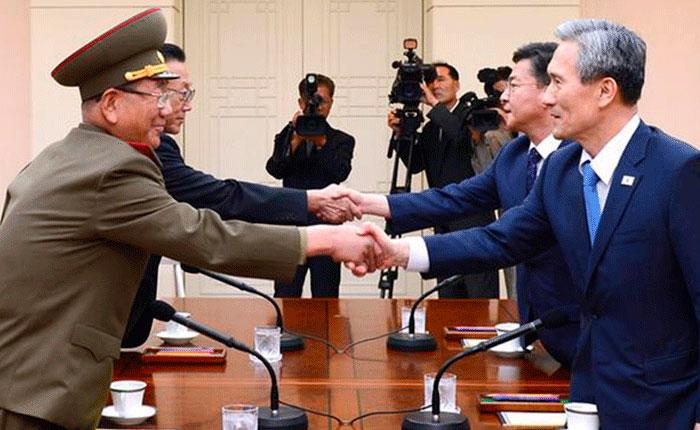 Corea del Norte y del Sur logran acuerdo para reducir tensiones