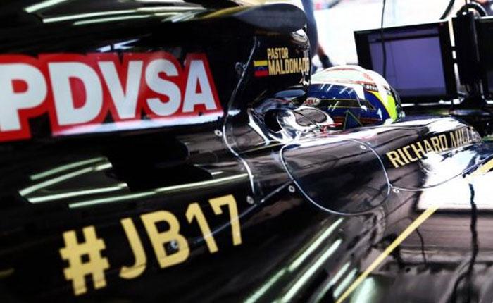 En suspenso patrocinio de Pdvsa a Pastor Maldonado por dificultades de Lotus