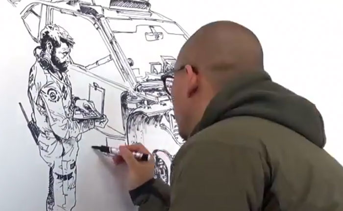 Impresionante timelapse demuestra la destreza con la que dibuja el artista chino Kim Jung gi