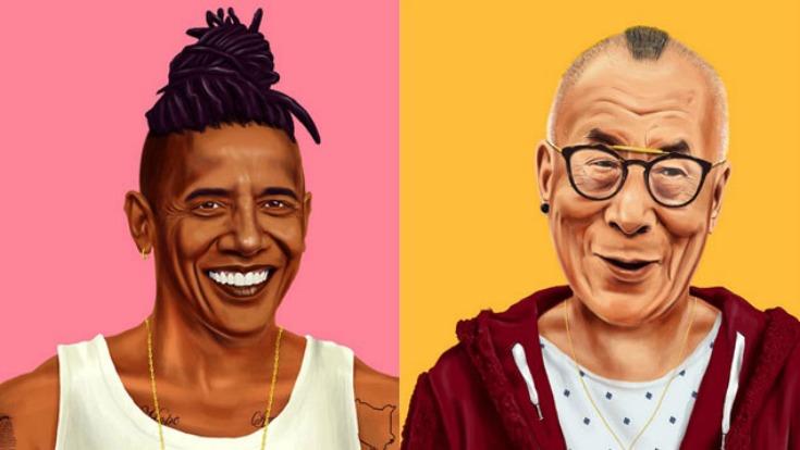 Obama, Clinton y Gandhi ahora personalidades hipsters