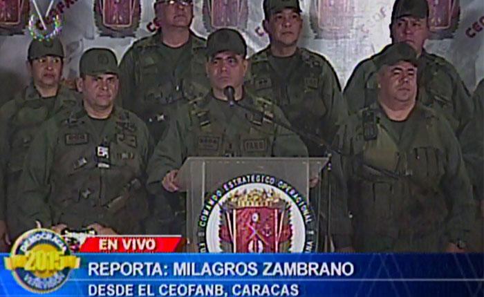 Ministro de la Defensa: 78 incidencias electorales se reportaron durante los comicios