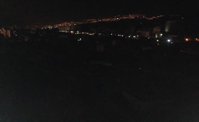 Reportaron apagón en varias zonas de Caracas