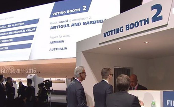 Elección presidencial de la FIFA va a segunda vuelta