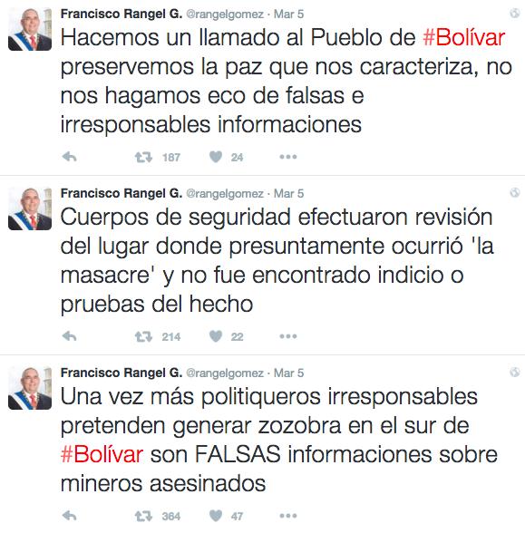 Twitter, Rangel Gómez