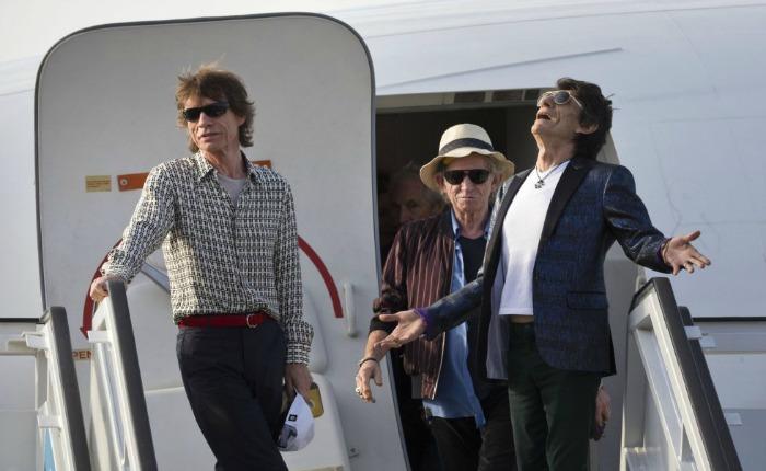 FOTOS Los Rolling Stones aterrizan en Cuba para dar concierto gratis en La Habana