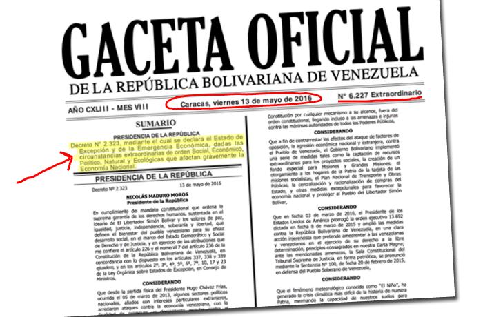 Lo que no dice el decreto de Estado de Excepción de Maduro
