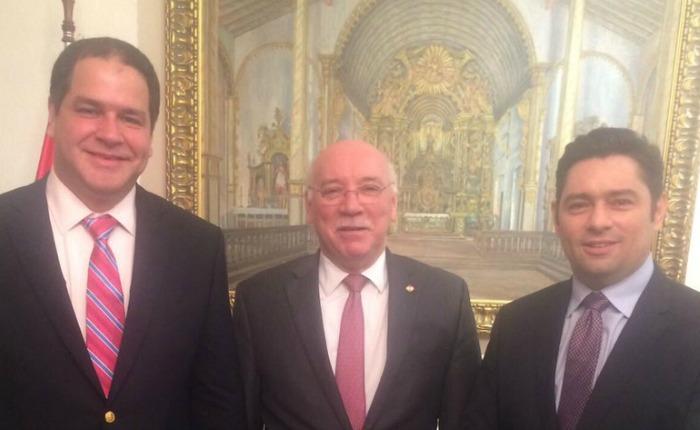 Luis Florido y Carlos Vecchio se reunieron con el canciller de Paraguay