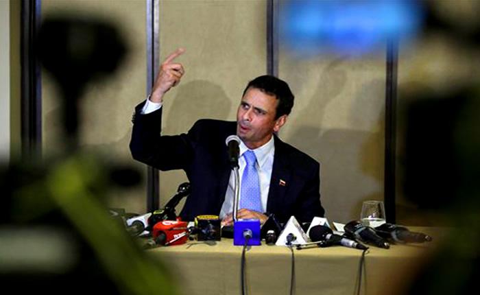 """Capriles propone hacer otra """"Toma de Caracas"""""""