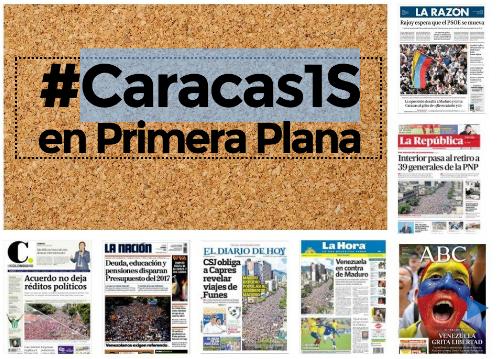 #Caracas1S fue noticia en 58 periódicos del mundo