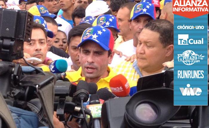 Capriles a los ciudadanos: Hay que organizarse para la marcha en Miraflores