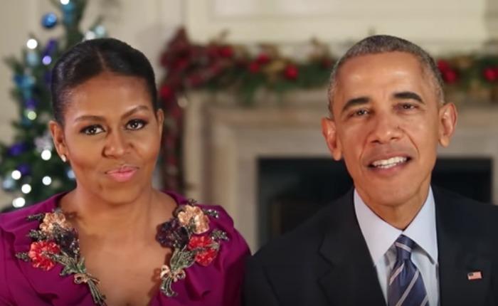 Los Obama envían su último saludo de Navidad desde la Casa Blanca