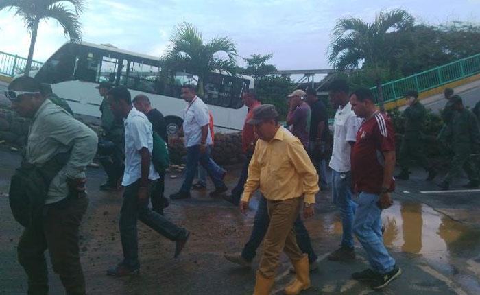 García Carneiro: Serán evaluadas las medidas para la reconstrucción del puente de Guanape