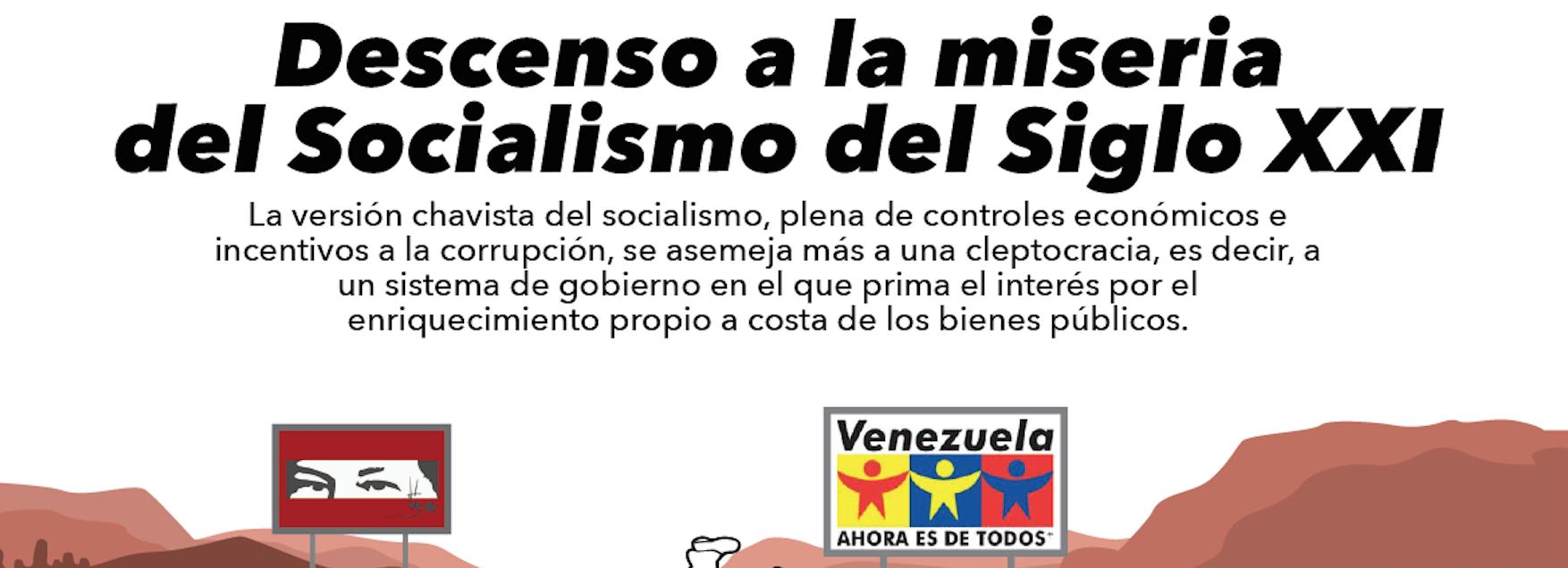 INFOGRAFÍA | Cleptocracia: de la utopía revolucionaria a la miseria del Socialismo del Siglo XXI
