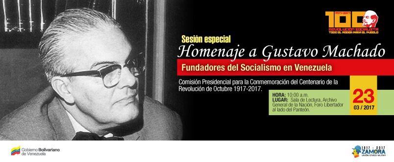 Homenaje a Gustavo Machado AGN