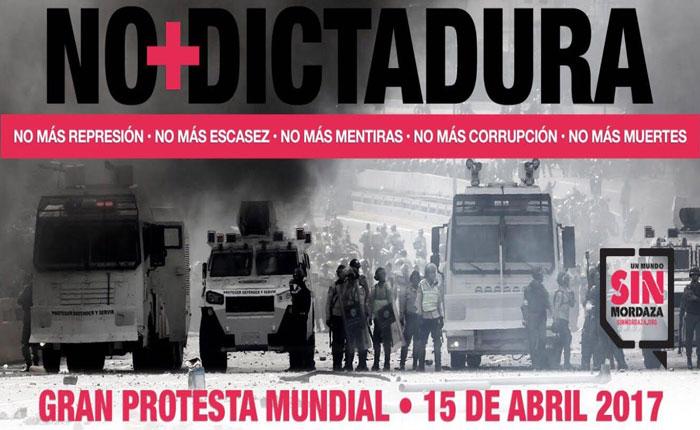 Varias ONGs convocan movilización global contra represión en Venezuela