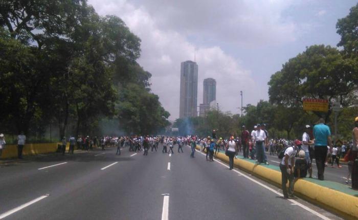 Reprimen fuertemente a la oposición en el oeste de Caracas