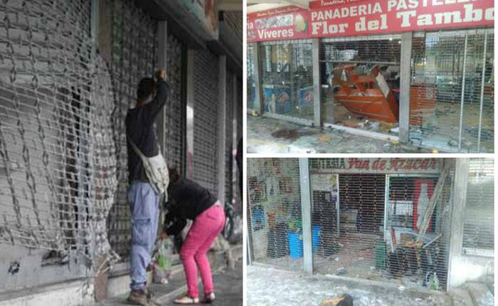 24 locales saqueados fue el saldo de disturbios en Los Teques