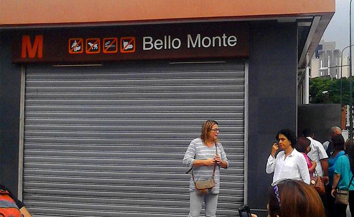 Metro de Caracas cerró 10 estaciones y suspendió rutas de Metrobús