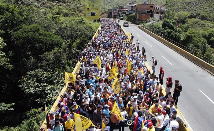 Los Teques marchó contra la represión de cuerpos de seguridad del Estado
