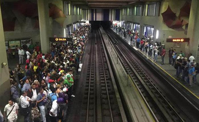 Cerradas ocho estaciones del Metro de Caracas