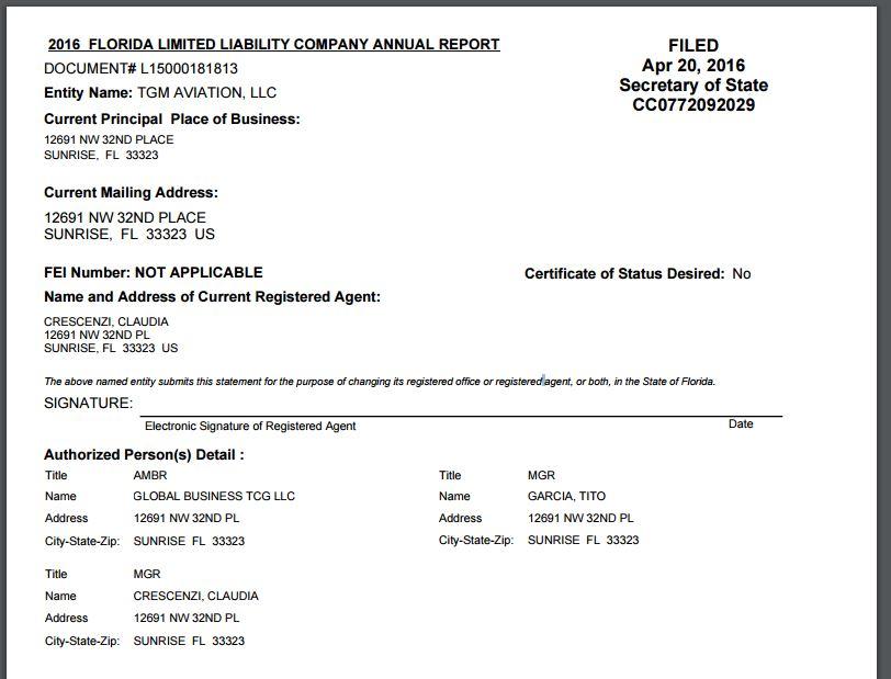 Foto-3-Registros-empresariales-estadounidenses-muestran-la-relación-de-TGM-Aviation-con-GLobal-Bussines-dirigida-por-Claudia-Crescenzi
