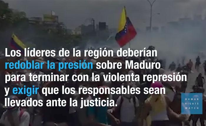 Vea el video que publicó HRW sobre la brutal represión en Venezuela