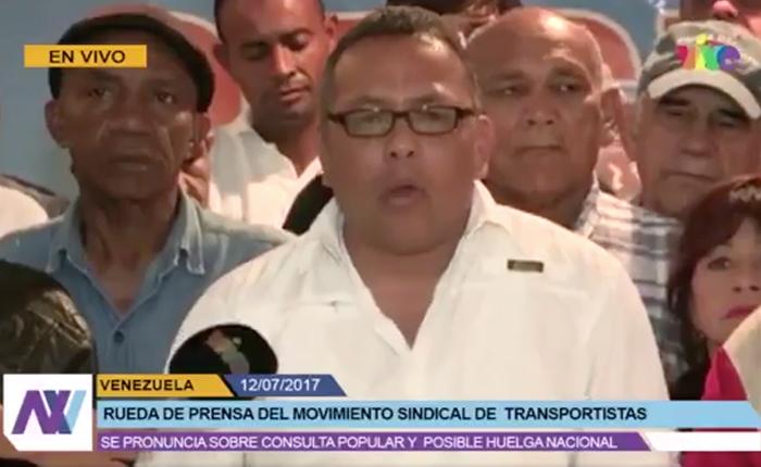 Transportistas trabajarán el #16Jul en apoyo a la consulta popular
