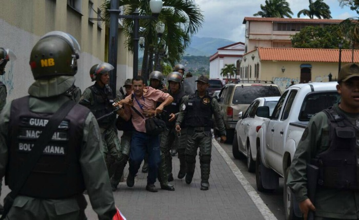 Represión también fue protagonista en el interior este #22Jul