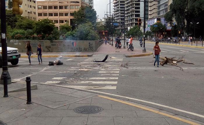 El trancazo espontáneo continuó este miércoles en Caracas