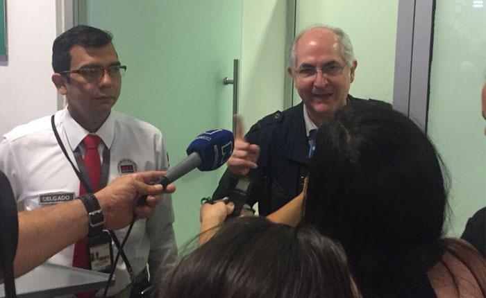 """Antonio Ledezma tras su fuga: """"Fue una travesía peliculera"""""""