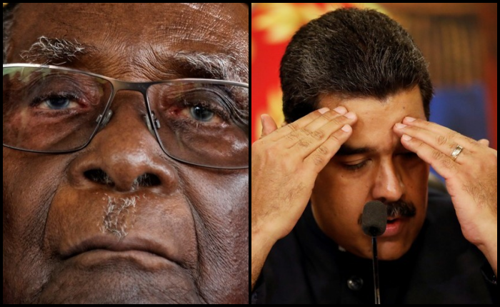 collage-Mugabe(AP)-Maduro(Reuters)
