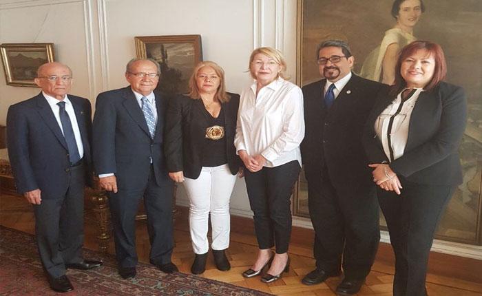 Fiscal General se reunió en Chile con magistrados designados por la AN