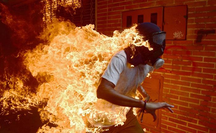 Una foto de las protestas en Venezuela está nominada al World Press Photo