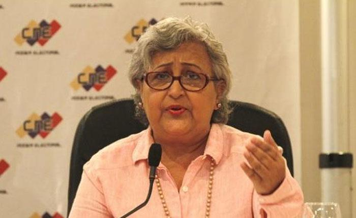 Tibisay Lucena asegura que comicios del #20M no se van a suspender
