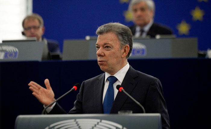 Presidente Santos rechaza la situación que viven Venezuela y Nicaragua