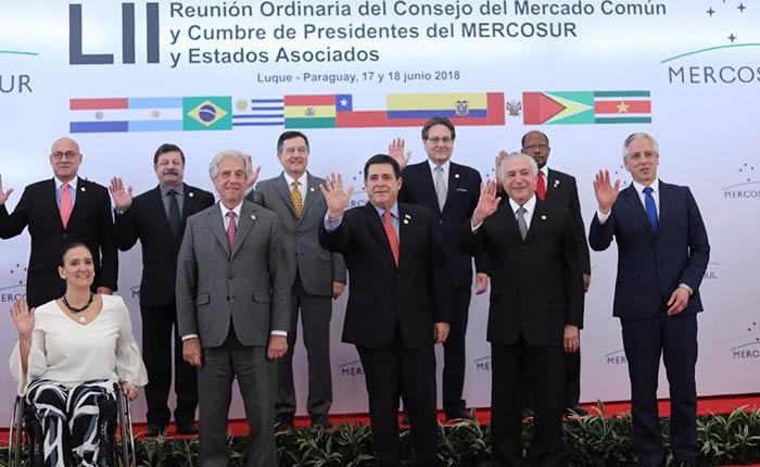 Presidentes del Mercosur expresaron preocupación por Venezuela y Nicaragua