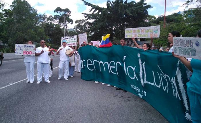 Trabajadores de la salud piden a Nicolas Maduro respuestas a demandas salariales